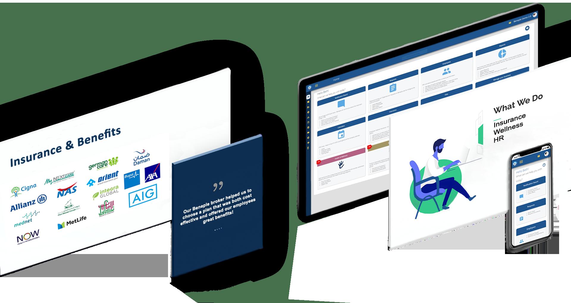 Beneple - HR platform - Corporate Insurance - Wellness